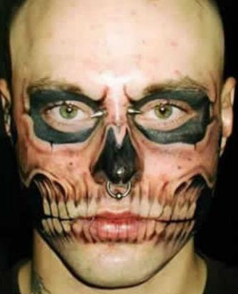 Crazy Face Tattoos