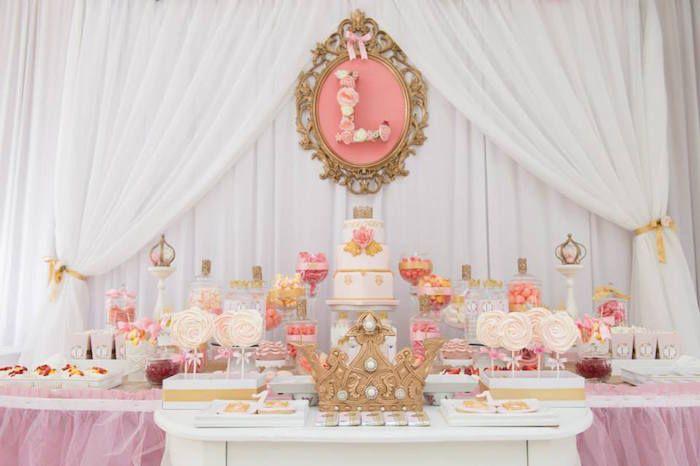Ideas decoraci n pink and gold una mami creativa for Decoracion de princesas