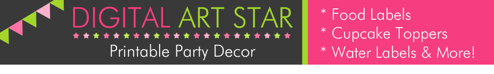Digital Art Star: Printable Party Decor