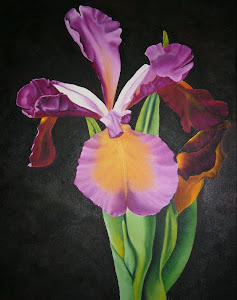 Iris  Oil on canvas