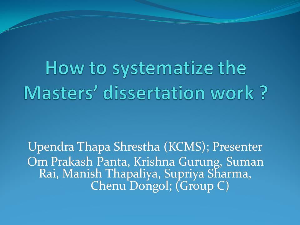 dissertation work in microbiology