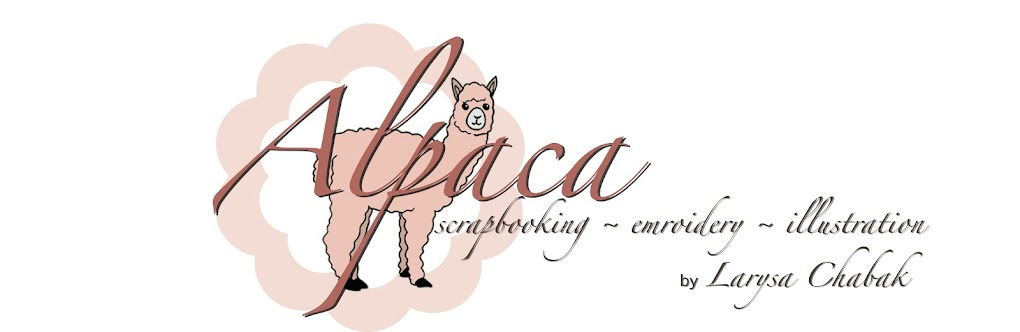 Alpaca - scrapbooking, embroidery, illustration