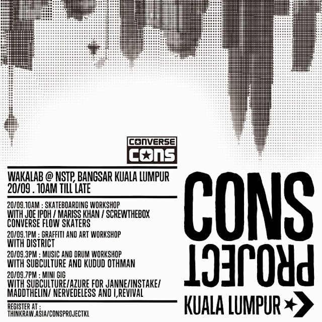 Converse CONS Project KL Malaysia 2014 flyer