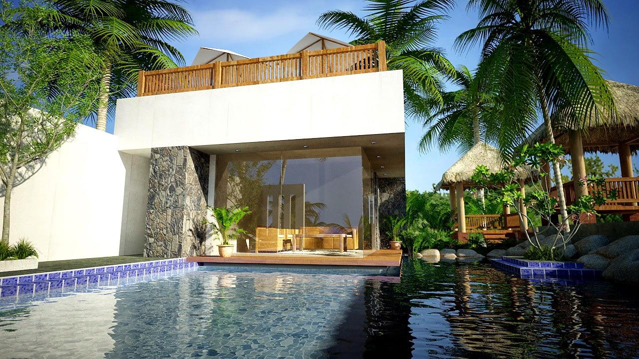 Model Rumah Mewah Bernuansa Villa