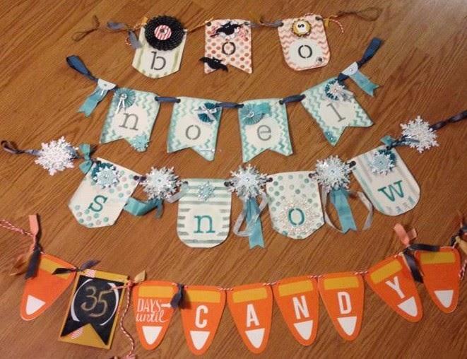 Handmade Holiday Banners MidnightCrafting.com