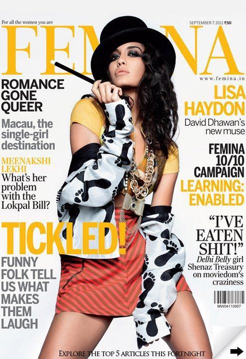 Lisa Haydon @ Femina Magazine Cover