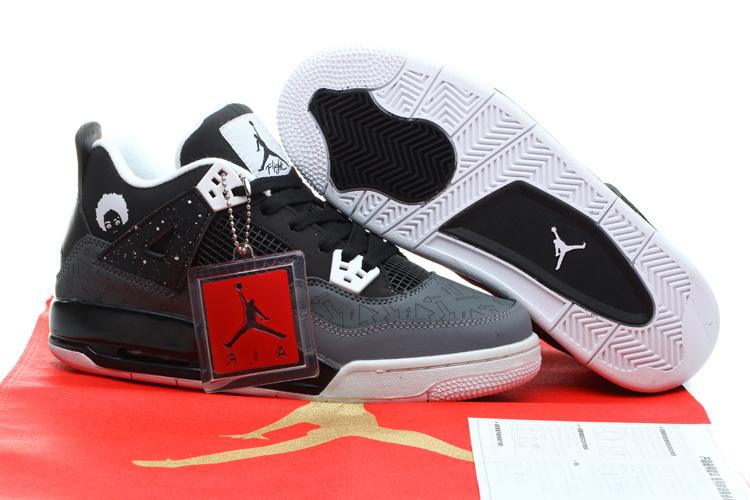Pin New Women Nike Air Jordan 4 Shoes Black Grey On Pinterest