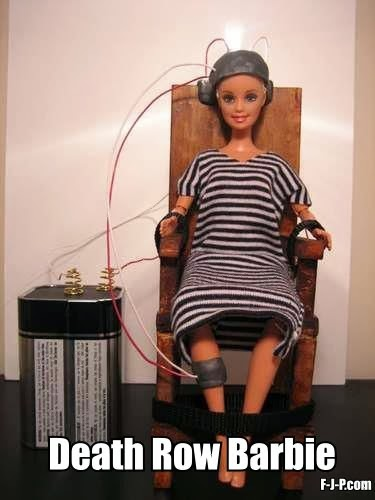 Funny death row barbie joke image