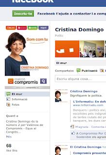 Cristina Domingo en campanya
