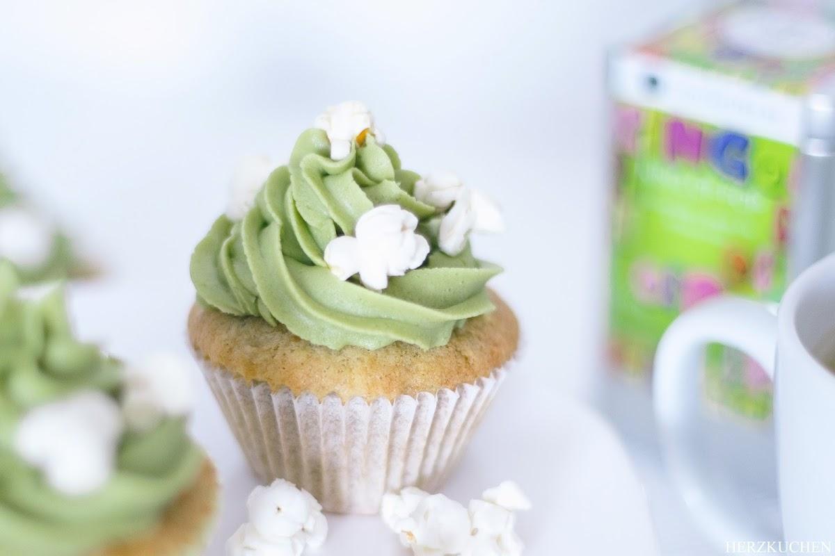 Bananen-Matcha-Cupcakes