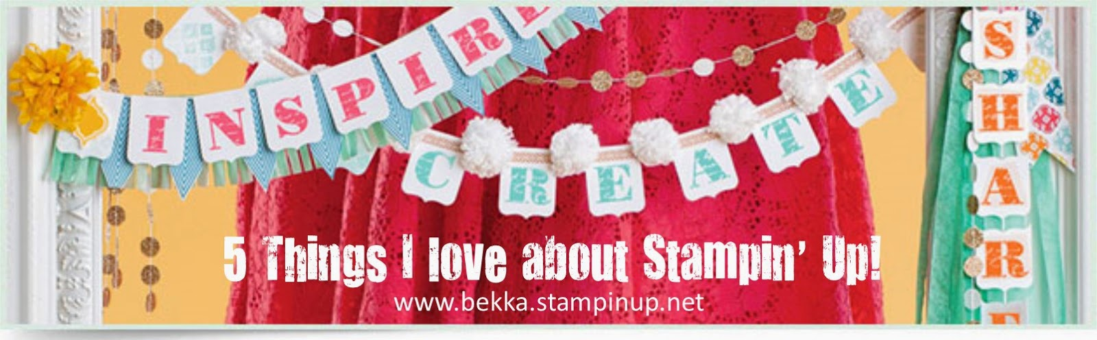 5 Things I love about Stampin' Up! UK