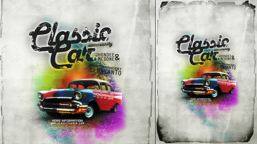 How To Create Creative Poster Abstract background In Photoshop