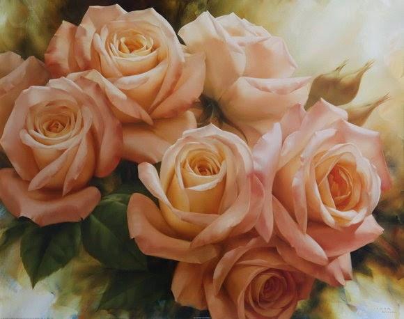 Lukisan Bunga Igor Levashov Artwork