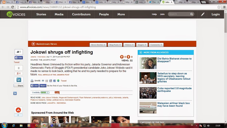 Jokowi Shrugs off Infighting (Jakarta Post)