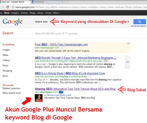 Menampilkan Akun Google Plus Di Seach Engine Google | Khamardos Blog