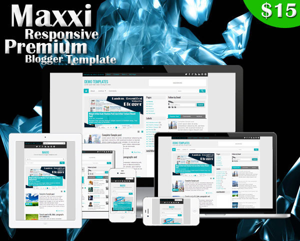 Maxxi Premium Responsive Blogger Template Poster
