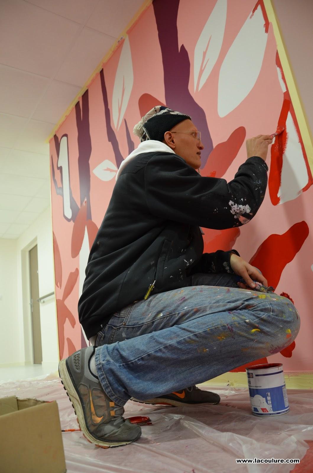 collectif la coulure graffiti lyon r sidence pour personnes ag es. Black Bedroom Furniture Sets. Home Design Ideas