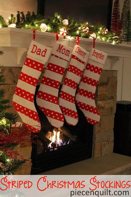 Velour Christmas Stockings