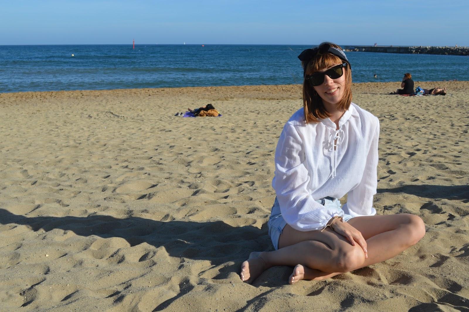 Life update me on Barcelona beach