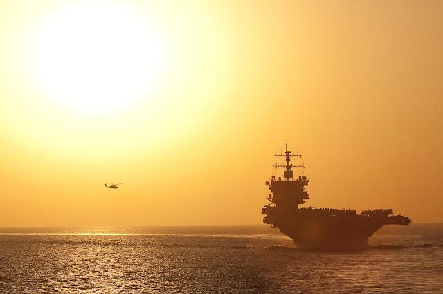 USS Enterprise (CVN 65) transits back to its homeport of Norfolk, Va.