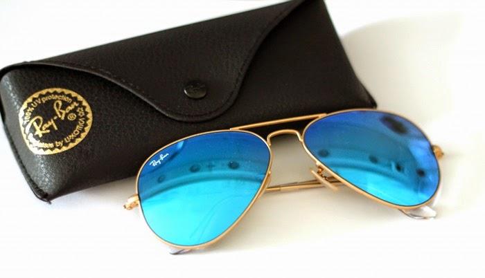 blue aviator ray bans  ray ban aviator flash lense blue