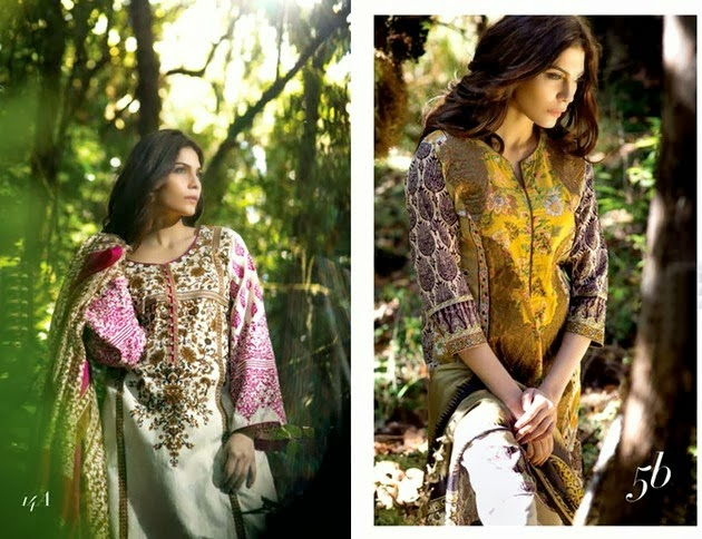 Sana Safinaz Chiffon, Silk & Lawn Collection 2014
