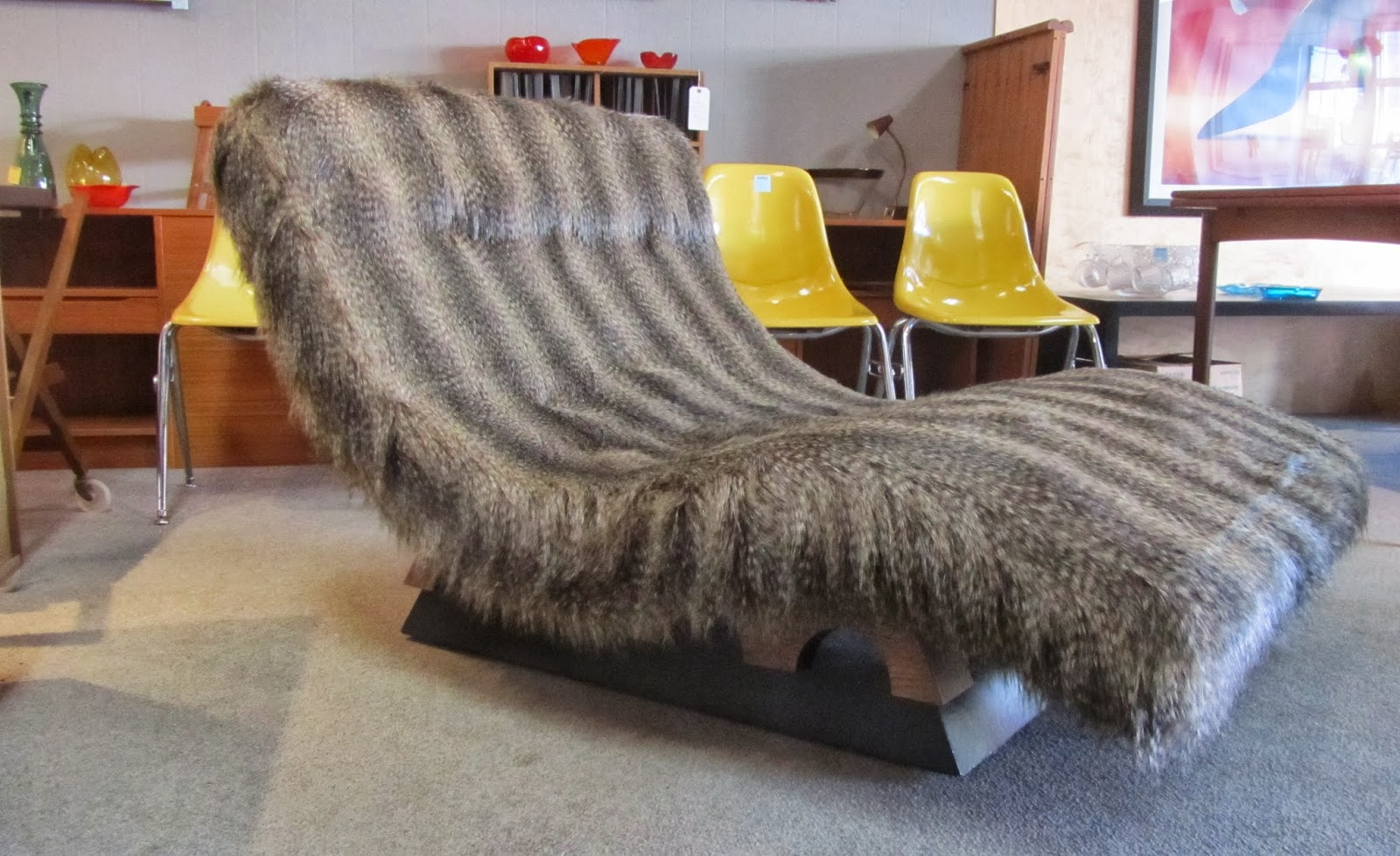 The original fabric was torn and worn as was the foam beneath it. Recently we found some wonderful faux raccoon fur fabric. It is very soft and compliments ... : how to reupholster a chaise - Sectionals, Sofas & Couches