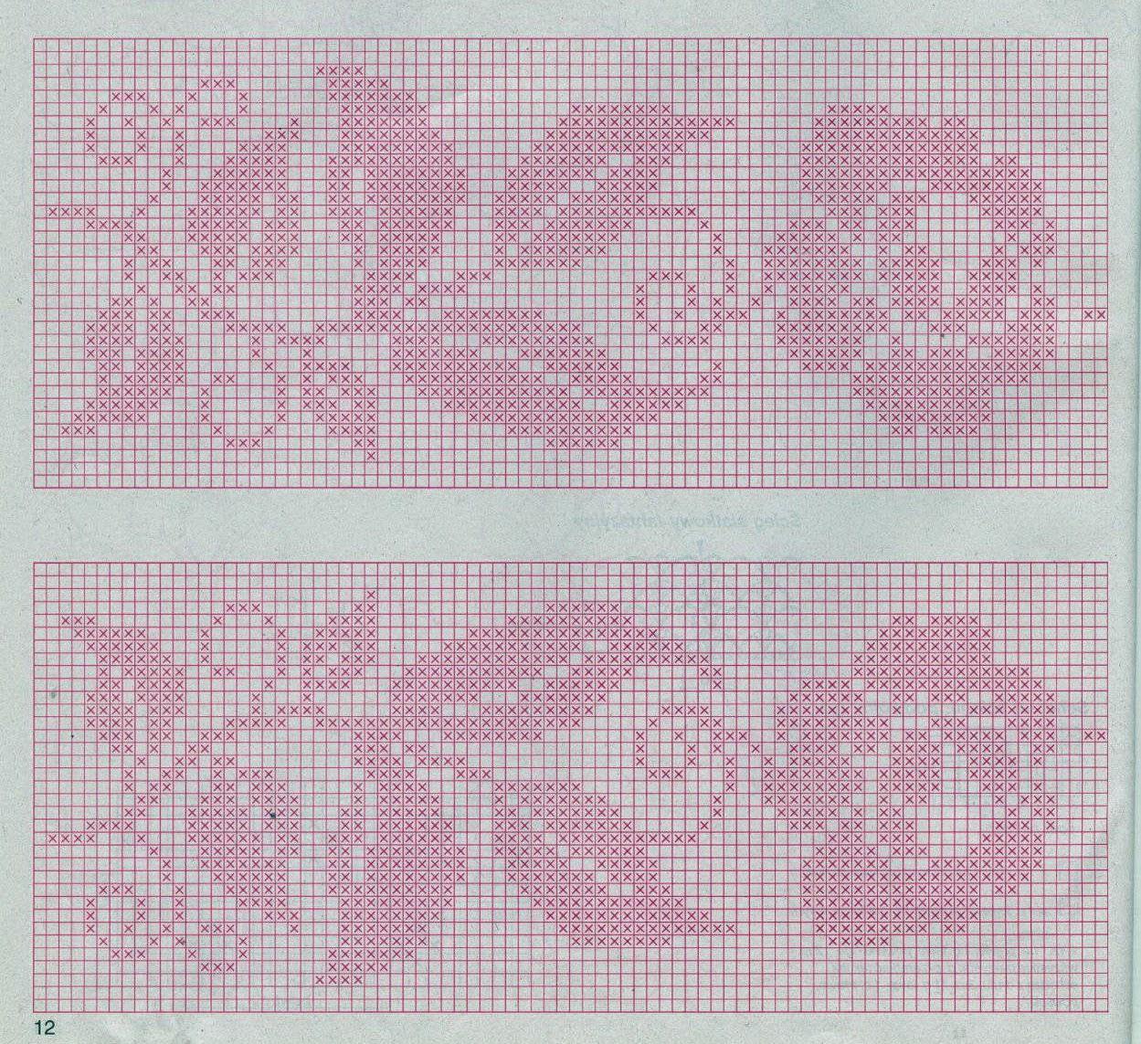 Картины крючком в технике филейного вязания 42
