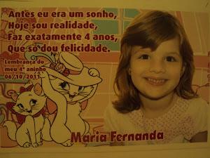 Lembrança de 4 anos da Maria Fernanda