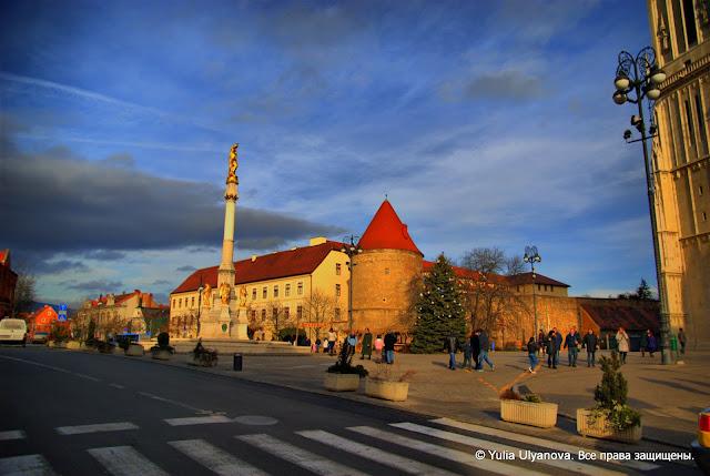 Часть оборонительных стен, построенных в XIII веке, Загреб