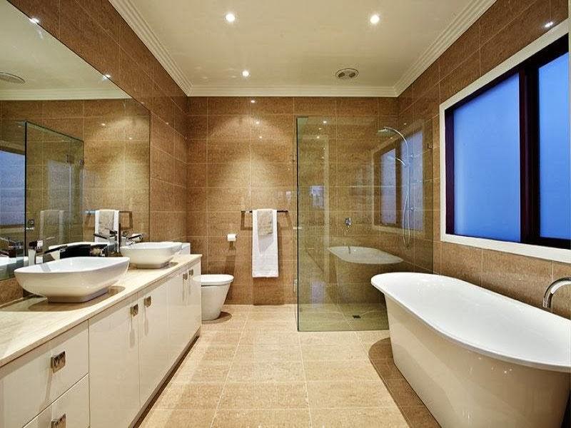 2 salle de bains design moderne avec des fen tres du sol au plafond l 39 a - Deco fenetre salle de bain ...