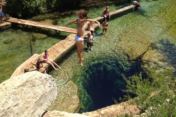 Подводная пещера Колодец Иакова в Техасе