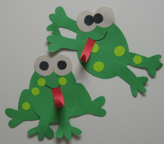 Creative teaching frog glyph fun for Frog crafts for preschoolers