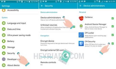Aplikasi Android Terkunci Administrator
