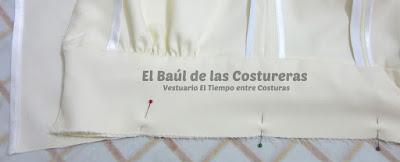 Confección chaqueta kaftán Aris Agoriuq de El Tiempo entre Costuras aplicación del faldón al cuerpo superior