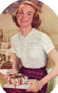 1950's Knitting - Lace-Knit Blouse for women