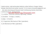 Petronas Melaka Kerja Kosong