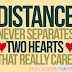 Distance Never Separates | Loving Greeting Card For Beloved