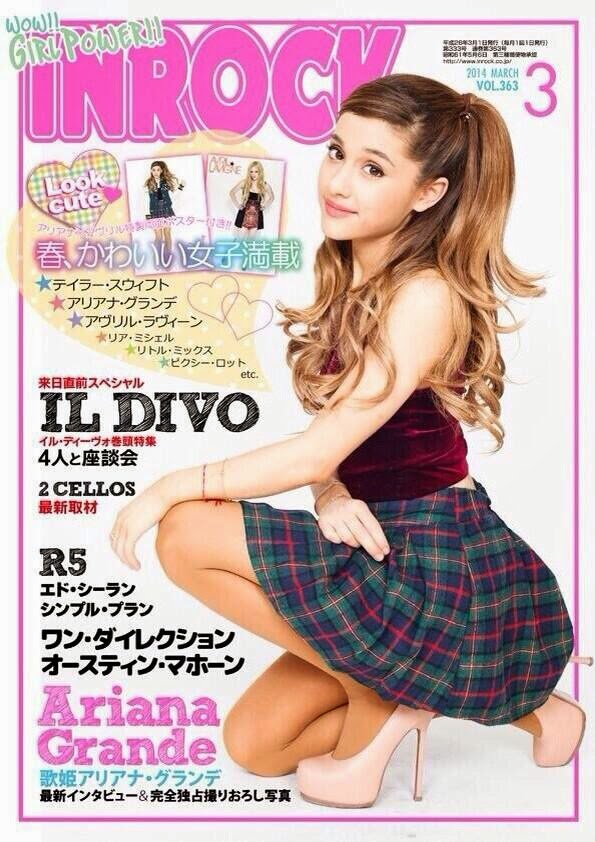 Ariana Grande covers InRock Japan Magazine March 2014 and shows off flirty fashion looks