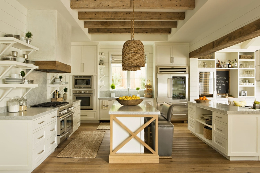 wystrój wnętrz, wnętrza, urządzanie mieszkania, dom, home decor, dekoracje, aranżacje, kitchen, rustic style, living room, home, house, kuchnia, jadalnia, styl rustykalny, drewno, salon, drewniane belki, wooden beam