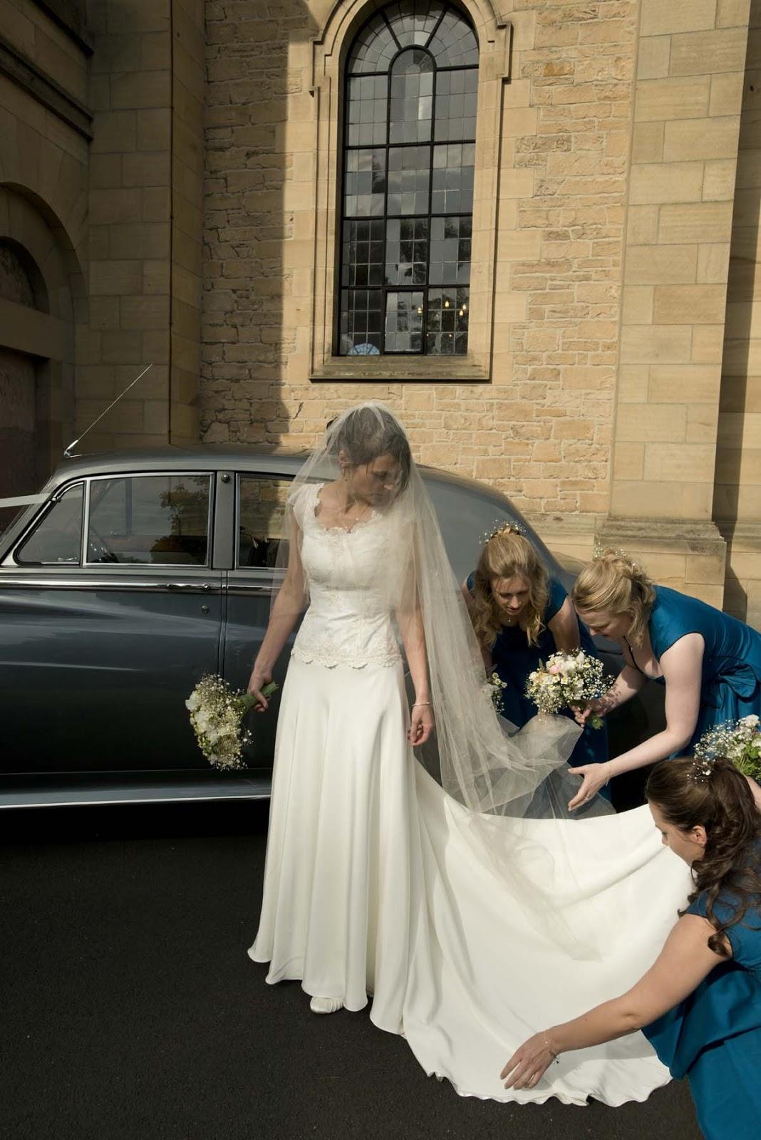 Lace And Silk Crepe Wedding Dress For Melrose Wedding Freja