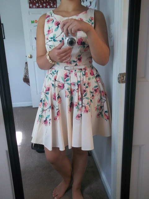 tea party attire floral dress