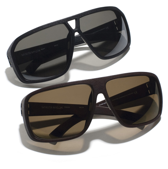 The amazing Mykita Mylon 2012 collection: Icco and Crisson sunglasses in peat and pitch