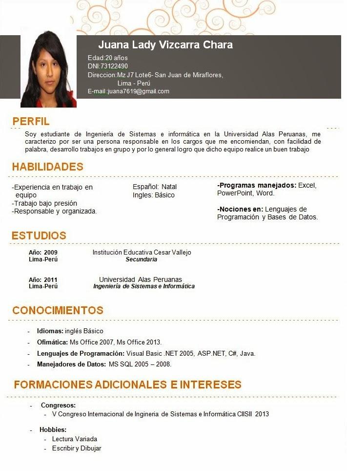 administracion de personal  curriculum vitae y carta de