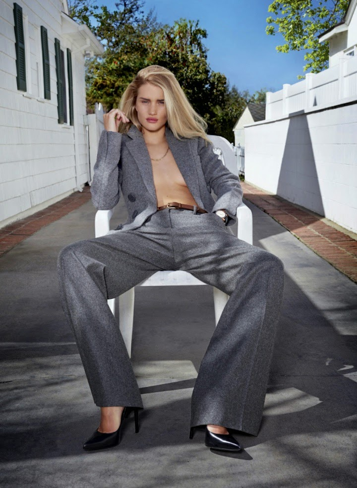 "Rosie Huntington-Whiteley in ""Honey, I'm Home"" by Collier Schorr for V Magazine # 89, Summer 2014"
