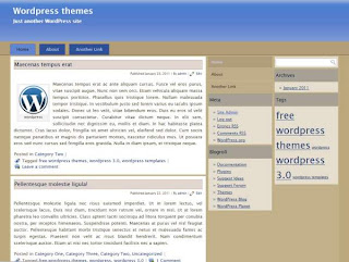 wordpress blog template