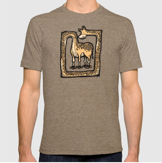 Square Giraffe T-shirt