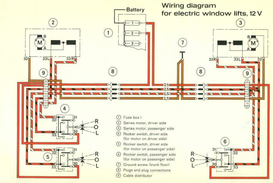 1971+Porsche+911+Electrical+Windows webasto wiring diagram diagram wiring diagrams for diy car repairs Hayden Electric Fan Wiring Diagram at metegol.co