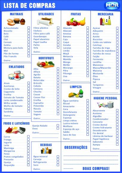 lista de compra supermercado
