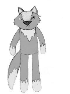 plush wolf doll rag doll wolfgang